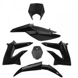 Kit de plasticos/carenado TNT Derbi Senda Drd Xtreme -2010-2015 Negro