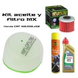 Kit aceite + filtros Honda CRF 150,250, 450