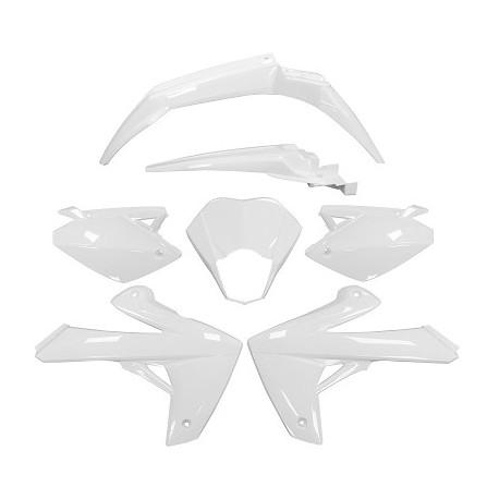 Kit de plásticos/carenado TNT Rieju Mrt 2009 al 2018 Blancos