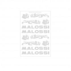 Hoja de adhesivos Malossi cromo