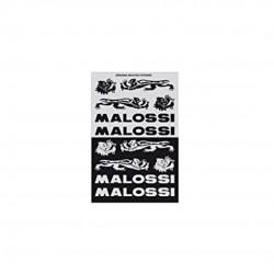 Hoja de adhesivos Malossi negro/plata