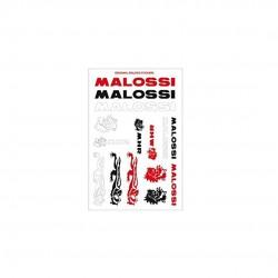 Hoja mini adhesivos Malossi rojo/negro/blanco 11x16,8cm